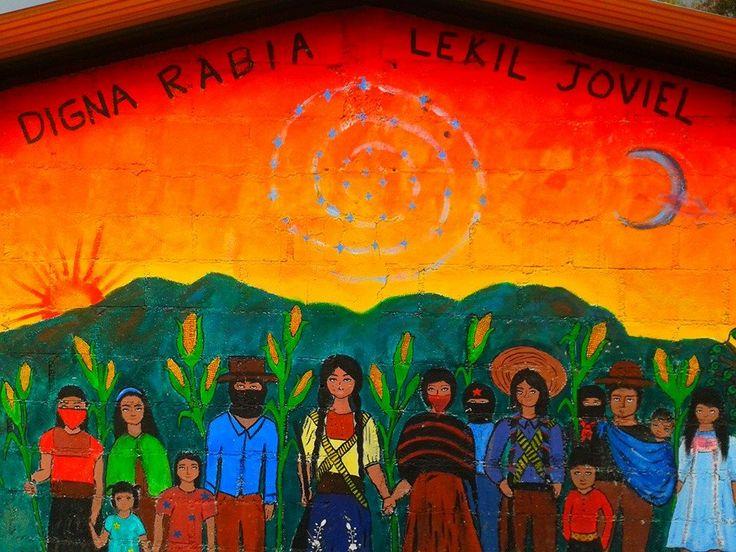 Digna rabia e el mural zapatista del caracol de oventic for Mural zapatista