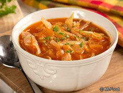Zesty Cabbage Soup - This healthy soup recipe is the perfect cozy dinner recipe for fall or winter.