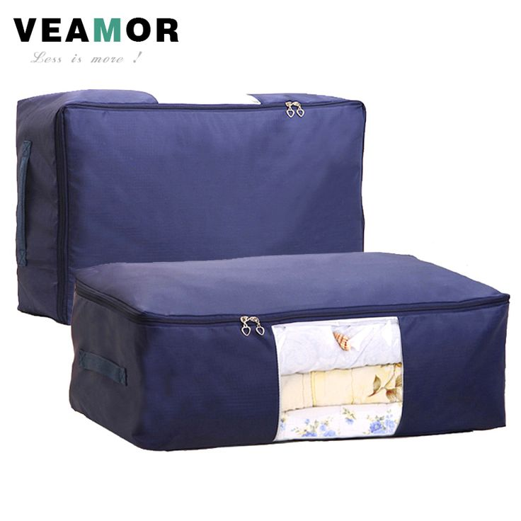 [VEAMOR] Quilt Storage Bags Oxford Luggage Bags S-XXL Home Storage Organizer Waterproof Floding Wardrobe Clothes Storage Bags  ** Click the VISIT button for detailed description