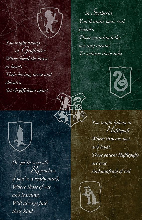 Hogwarts House Poster 11 x 17 Glossy by AndroidSheepFTW on Etsy, $12.00