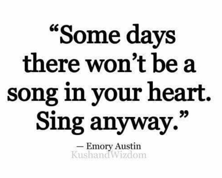 Music lifts the spirits