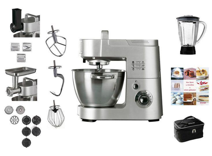 Robot pâtissier BRANDT KM1557BG prix promo Robot Conforama pas cher 439.99 € TTC au lieu de 499.99 €