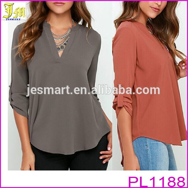 2016 New Fashion Women V Neck Solid Chiffon Blouse Sexy Lady Long Sleeve Casual Blouses Tops | Buy Now 2016 New Fashion Women V Neck Solid Chiffon Blouse Sexy Lady Long Sleeve Casual Blouses Tops and get big discounts | 2016 New Fashion Women V Neck Solid Chiffon Blouse Sexy Lady Long Sleeve Casual Blouses Tops Special Offer | Buy 2016 New Fashion Women V Neck Solid Chiffon Blouse Sexy Lady Long Sleeve Casual Blouses Tops  # #BestProduct