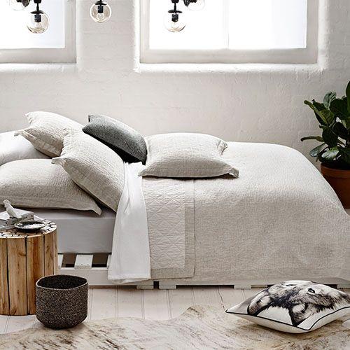 Vintage Washed Linen Coverlet Linen