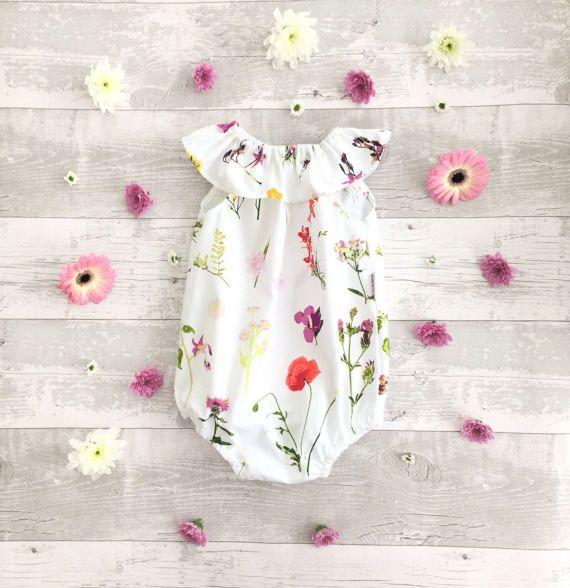 Baby meisje romper ruffle kraag baby sunsuit baby playsuits baby overalls taart technologie smash outfit pasgeboren romper UK verkoper handgemaakte gemaakt om te bestellen