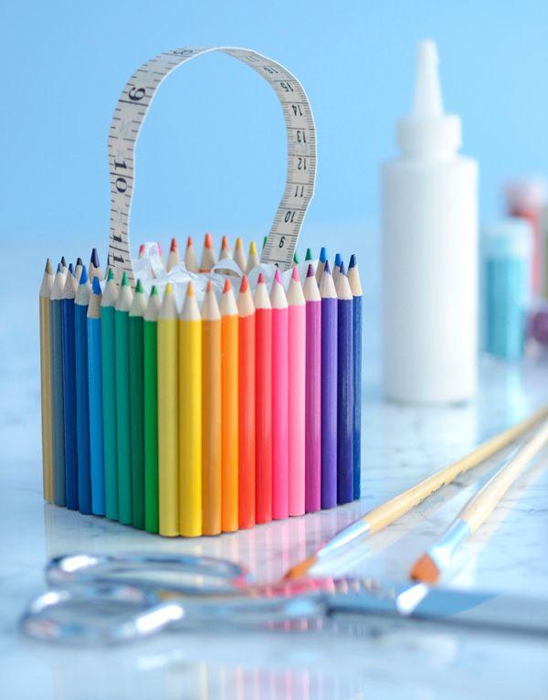 DIY color cajas del favor del lápiz