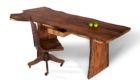 David Stine Sycamore Live Edge Slab Desk