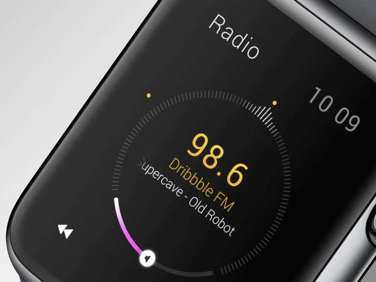 Some interactions for a little radio watch concept. Don't forget to check @2x! AE mock-up attached, feel free to grab it! (awesome PS mock-up by @Anders Drage · here)