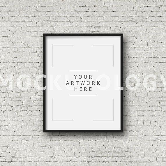 8x10 16x20 24x30 Vertical DIGITAL Black Frame Mockup Styled