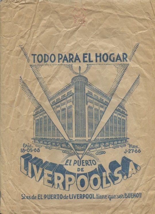 El Puerto de Liverpool Empaque, bolsa de papel Finales de los 60 Colección MODO