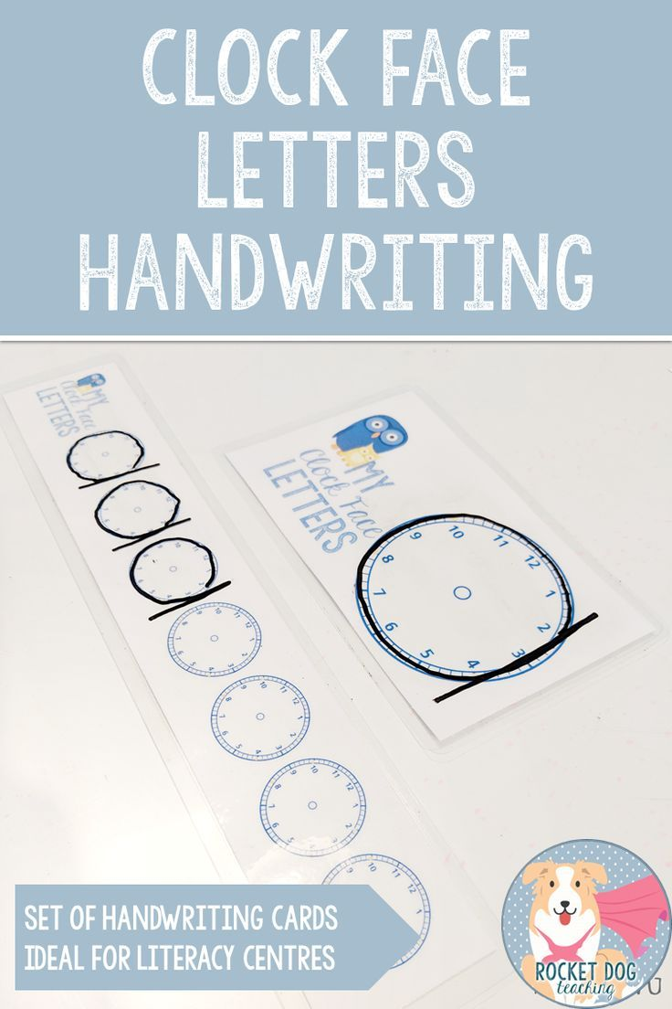 This Resource Is A Great Visual Reminder And Guide Of Where The Spalding Manuscript Clock Face Lett Clock Face Kindergarten Handwriting Classroom Communication [ 1104 x 736 Pixel ]