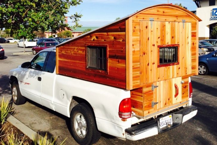 Truck Camping Shelter : Homemade wooden pickup truck camper shell the shelter
