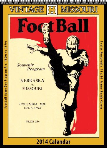 Missouri Tigers 2014 Vintage Football Calendar