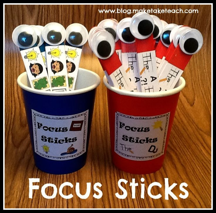 FREE printables to make your own focus sticks for your students.  Students use focus sticks to develop and assess their own writing.  FREE corresponding classroom posters.