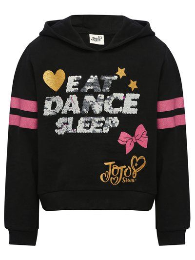 00c39128e5ba5 Jojo Siwa Two Way Sequin Slogan Hoody