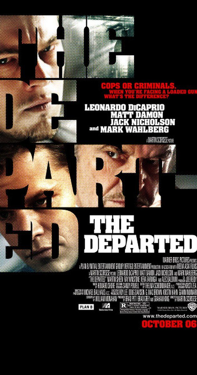 Directed by Martin Scorsese.  With Leonardo DiCaprio, Matt Damon, Jack Nicholson, Mark Wahlberg. An undercover cop and a mole in the police attempt to identify each other while infiltrating an Irish gang in South Boston.