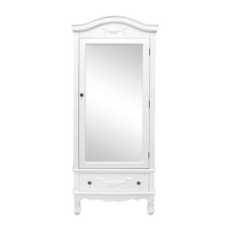 Toulouse White Single Wardrobe