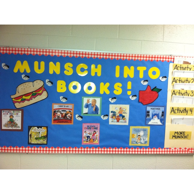 My interactive Robert Munsch bulletin board...picnic themed!!