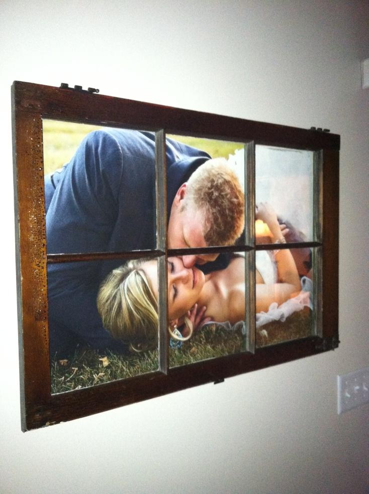 My wedding window frame- love it!
