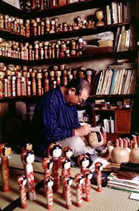 Zao Takayu traditional kokeshi dolls   Japan National Tourism Organization