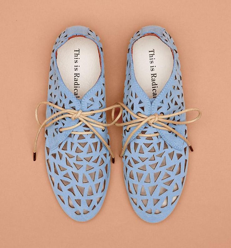 Radical Yes 'Smiley Smile' - Cornflower Blue Suede PRE ORDER Delivery due 20th November