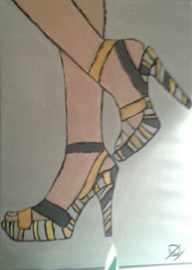 Schilderij voor beginners schoenen