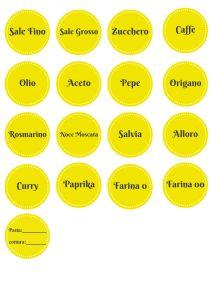 text (2) etichette stampabili italiano dispensa ordinata