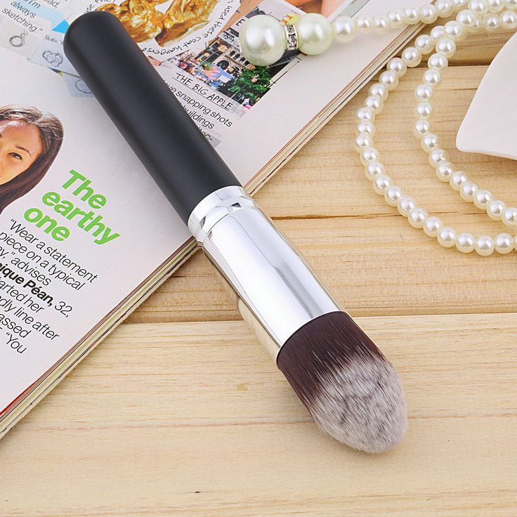 1pc Multi-Function Pro Makeup Brushes Foundation blush Liquid brush Wooden Kabuki Brush Cosmetics Tool FLat brush Hot Selling