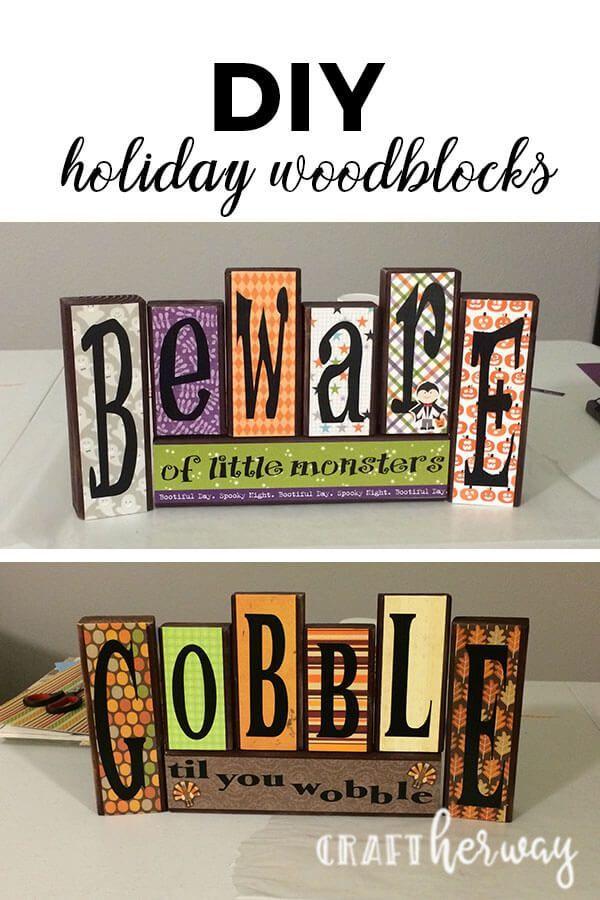 Diy Reversible Halloween And Thanksgiving Decoration Thanksgiving