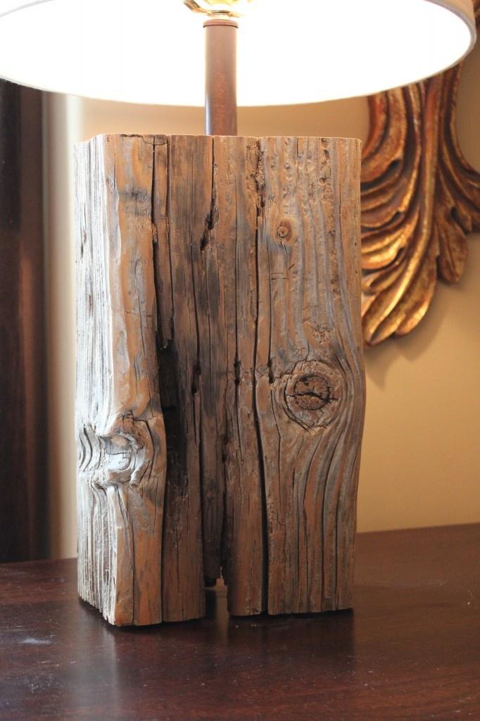 Salvaged wood lamp lighting pinterest for Diy table lamp ideas