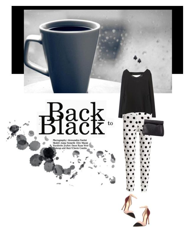 """""""Back to Black"""" by federica-m ❤ liked on Polyvore featuring Blugirl, Gianvito Rossi, Charlotte Russe, Persy, DayToNight, CasualChic and summertofall"""