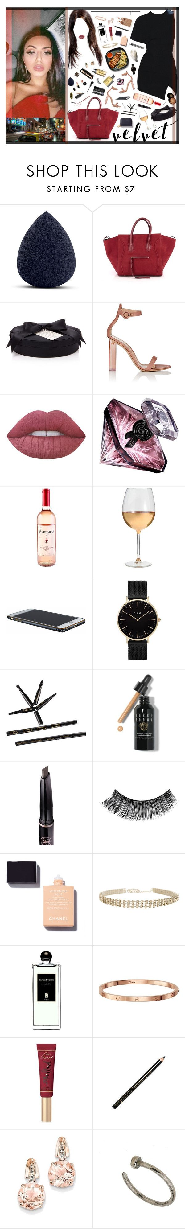 """7/16 Players Prayer 🙏"" by xomissvolker ❤ liked on Polyvore featuring My Makeup Brush Set, CÉLINE, D.L. & Co., Gianvito Rossi, Lime Crime, Lancôme, Marc Blackwell, CLUSE, Bobbi Brown Cosmetics and Garance Doré"