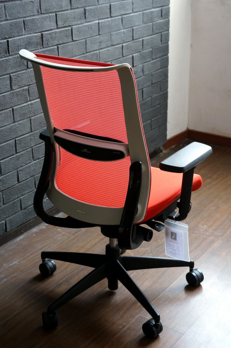 Kokuyo Airgrace Work Chair with Air Cushioned lumbar support. and 3d movement armrest http://www.kokuyo.cn/furniture/chair_airgrace_detail_en.html