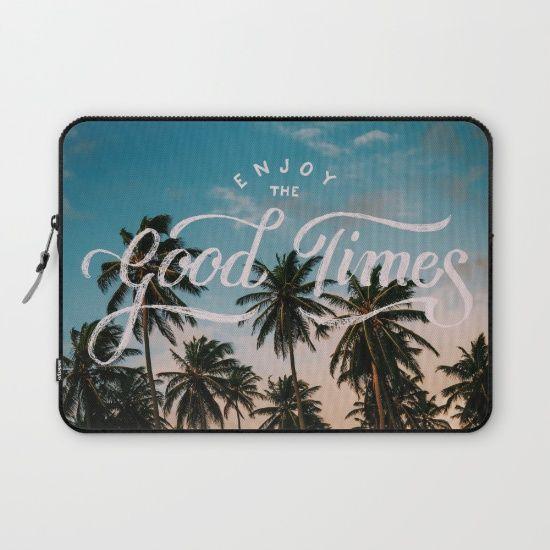 enjoy, good times, typography, palm trees...
