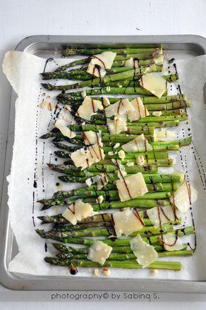 Due bionde in cucina: Asparagi al forno con scaglie di parmigiano e aceto…