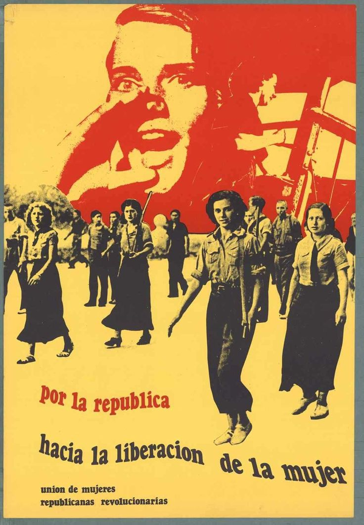 "Spanish Civil War: ""Hasten the Liberation of Women."" ca. 1936-1939. Publisher: Unión de Mujeres Republicanas Revolucionarias (Union of Revolutionary Republican Women)"