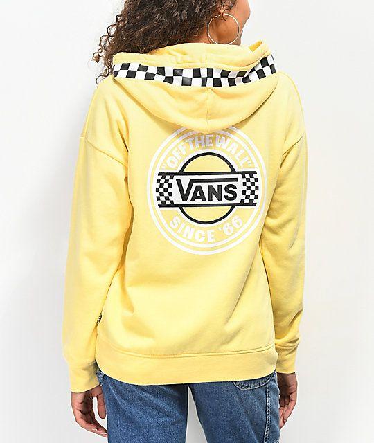 66e218e47228 Vans Circle Checkerboard Yellow Hoodie in 2019 | baby. | Yellow ...