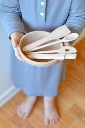 Köksredskap Barn -Trä - Set om 4 st