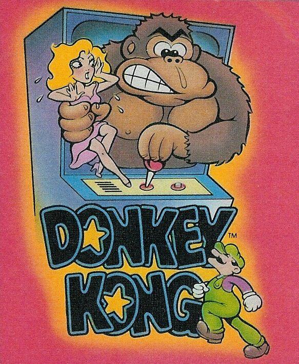 Artwork from a donkey kong sticker set