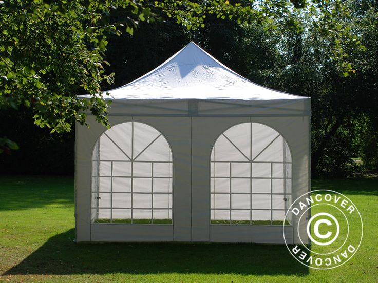 POP UP GAZEBO FLEXTENTS PRO VINTAGE STYLE 4X4 M WHITE, INCL. 4 SIDEWALLS Pop up gazebo FleXtents PRO is a high professional quality pop up gazebo with easy set up in just 60 seconds. Complete set incl. 4 sidewalls, pegs and a practical carry bag with wheels. A flexible, functional and durable pop up gazebo.