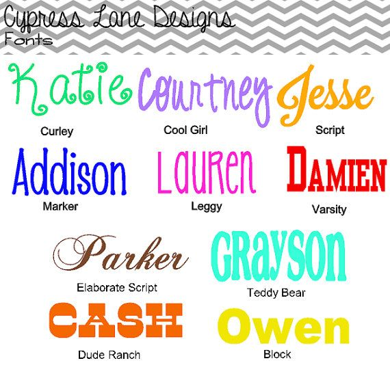 Custom Name or Word Vinyl Decal Sticker, Pick your Size, Color, and Font on Etsy, $3.50