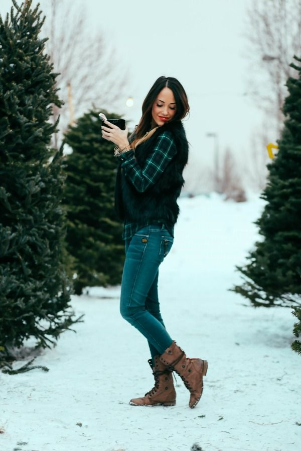 Plaid and Faux Fur | Styled Avenue