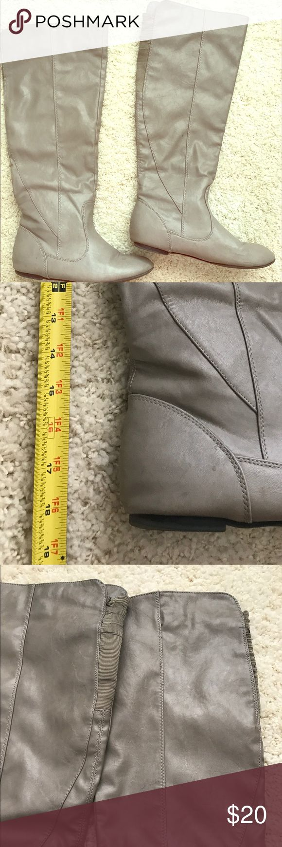 Shoe Dazzle Lina Grey Boots 8.5 A few blemishes but still have some life (see images for flaws). They are super comfortable and true to size. Shoe Dazzle Shoes Winter & Rain Boots