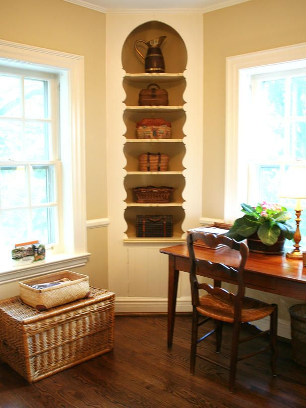 Built In Alcoves A Corner Between Two Windows Often Stays Empty Because Its  Hard To