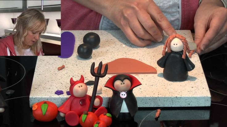 Polymer Clay Tutorials - How to make a cute Halloween Witch (+playlist)