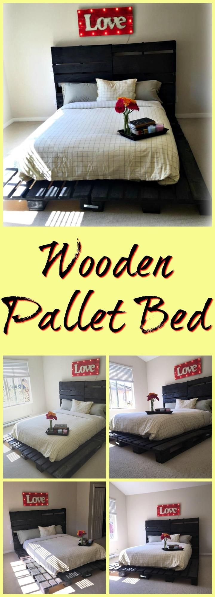 Wooden Pallet Bed out of only Pallets