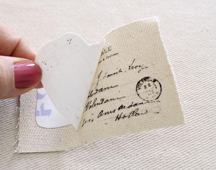 Узнайте, как сделать потрясающие французские этикетки из ткани Ephemera, используя утюг на бумажной технике переноса и использовать их для украшения различных предметов - компанией Dreams Factory для графической феи