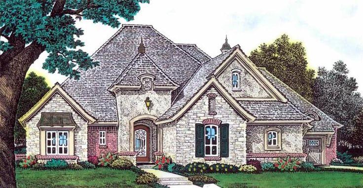 House Plan 92236 | European    Plan with 2297 Sq. Ft., 3 Bedrooms, 4 Bathrooms, 3 Car Garage