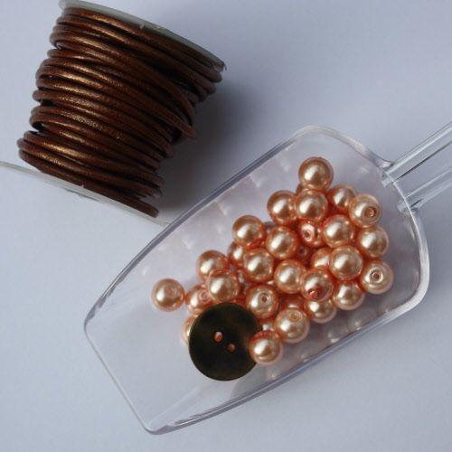 DIY & have fun! Luxe pakket zalmroze met metalen knoop