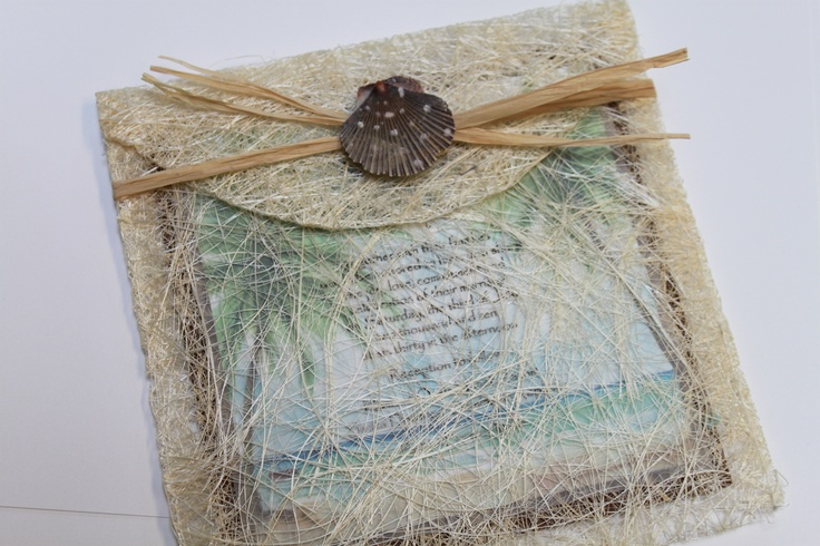 """6"""" x 6"""" Sinamay Lace Envelope. Perfect for the Sinamay Lace Invitation! This envelope cannot be mailed and must be mailed in a post-office approved envelope. Minimum order 10."""